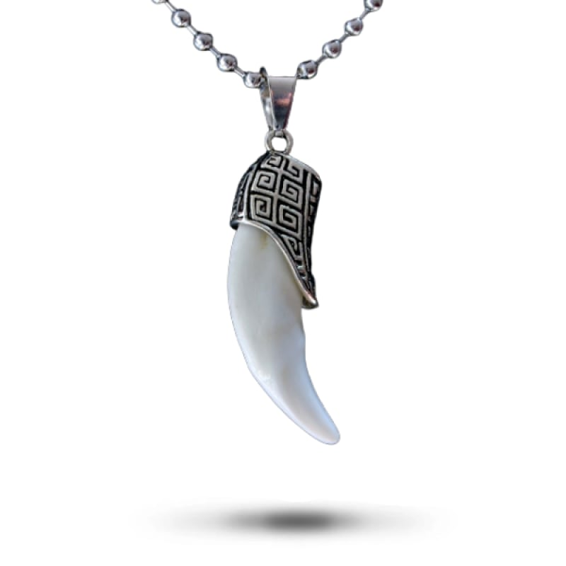 Gray Wolf Tooth Necklace