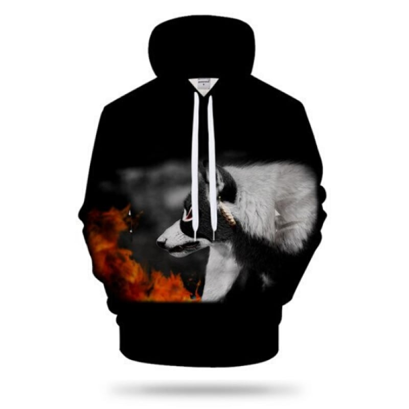 Hoodies with Wolf Designs