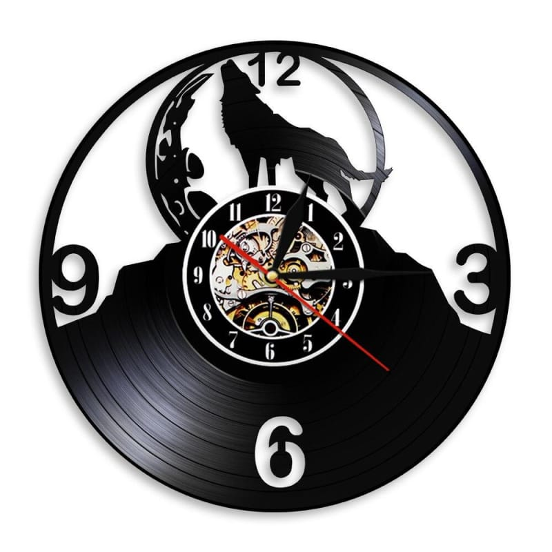 Howling Wolf Clock