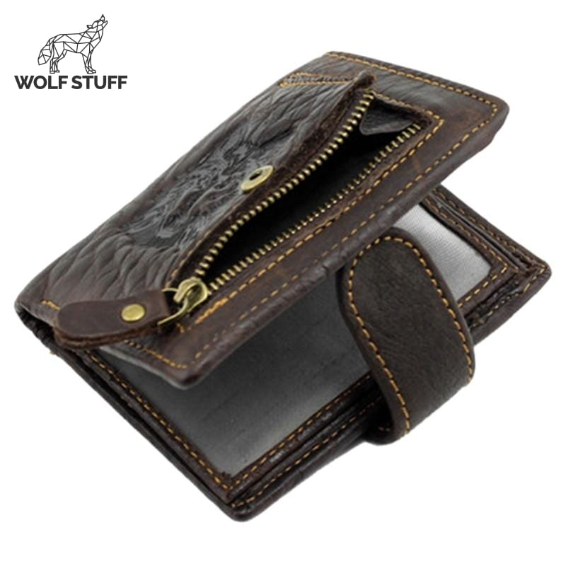 Mens wolf wallet