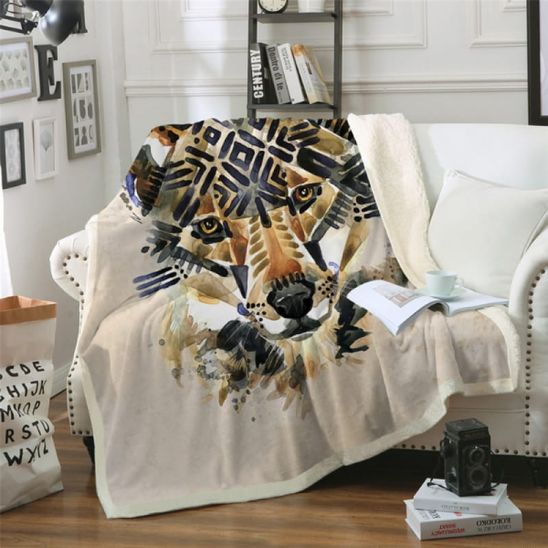 Native American Wolf Blanket