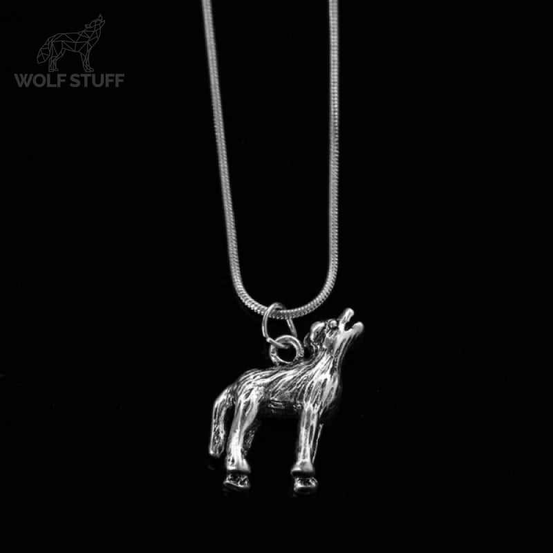 Native American Wolf Necklace