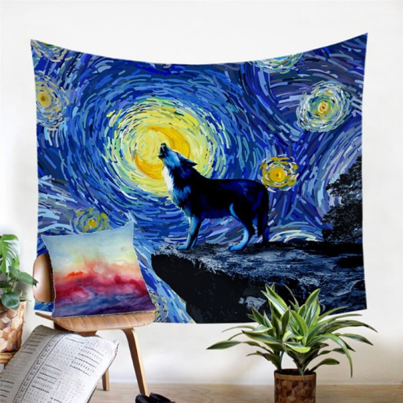 Painted Wall Tapestry