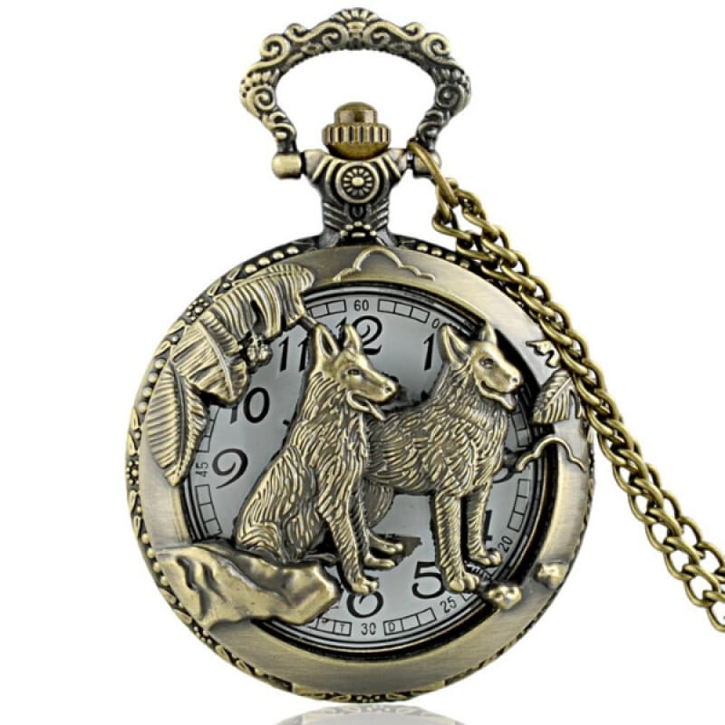 Pocket Watch Wolf Design