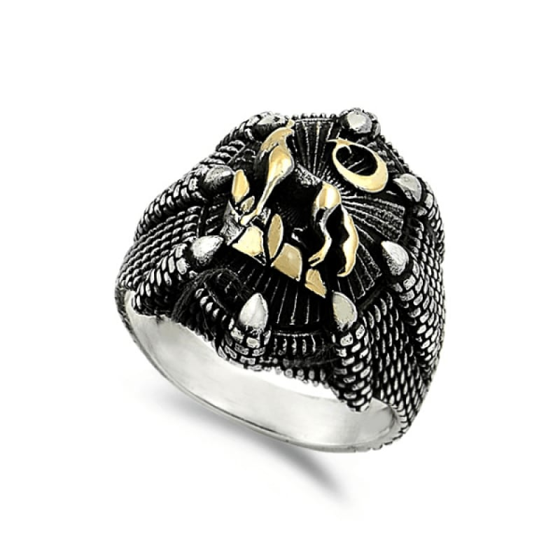 Silver and Gold Signet Ring