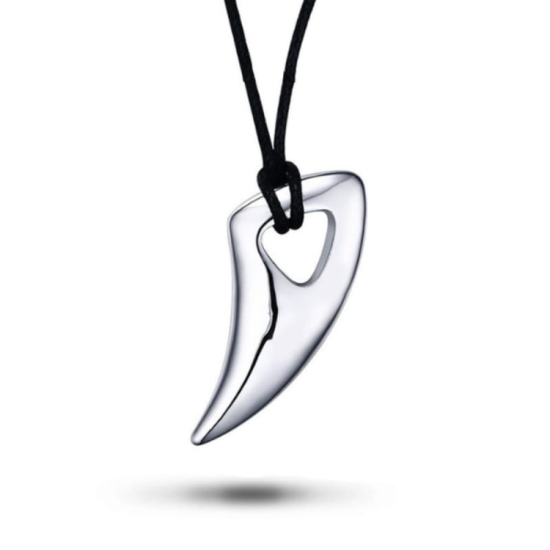 Silver Wolf Tooth Necklace