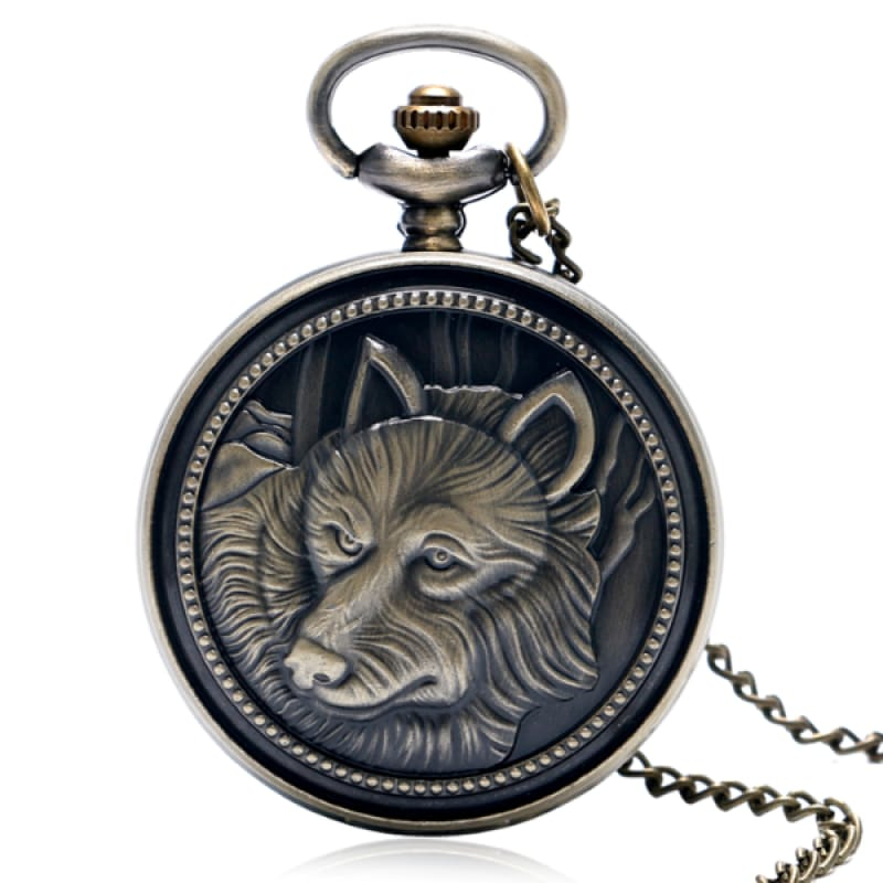 Steampunk Wolf Pocket Watch