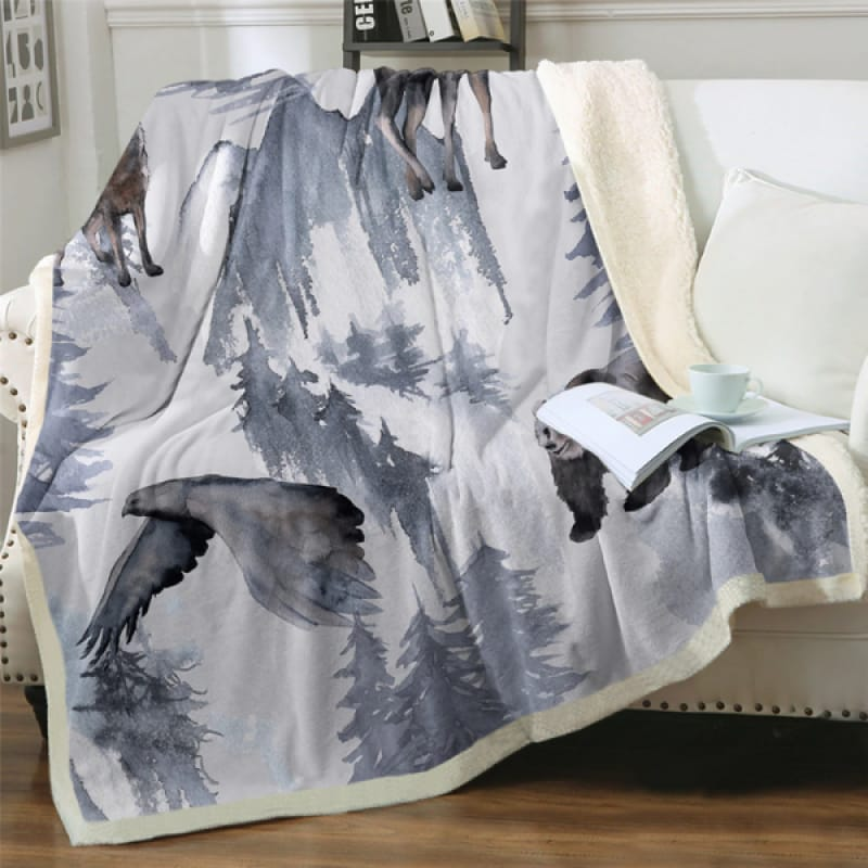 Wild Animal Throw Blankets