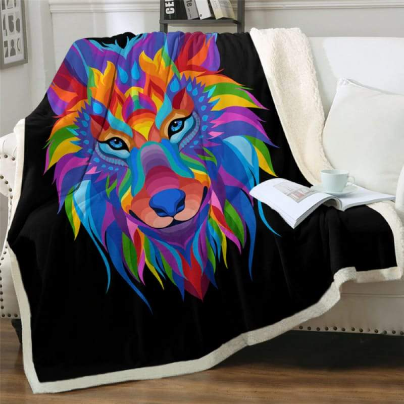 Wolf blanket bedding