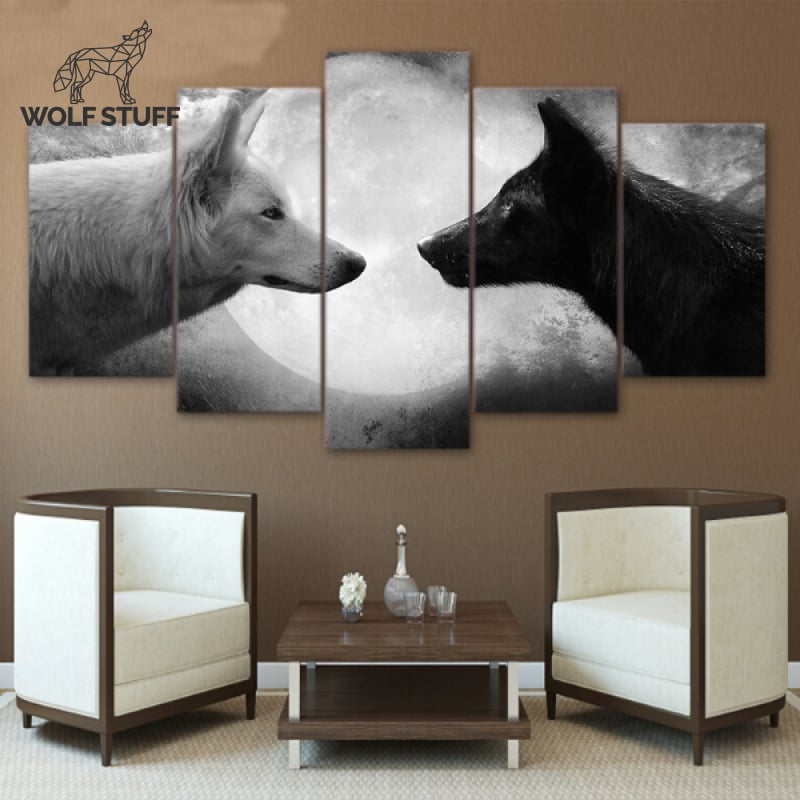 Wolf Canvas 5 Piece