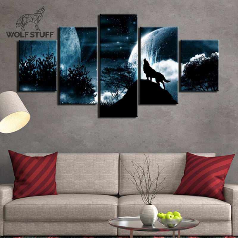Wolf Canvas Painting