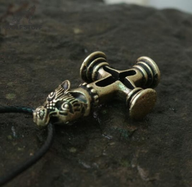 Wolf Cross Necklace