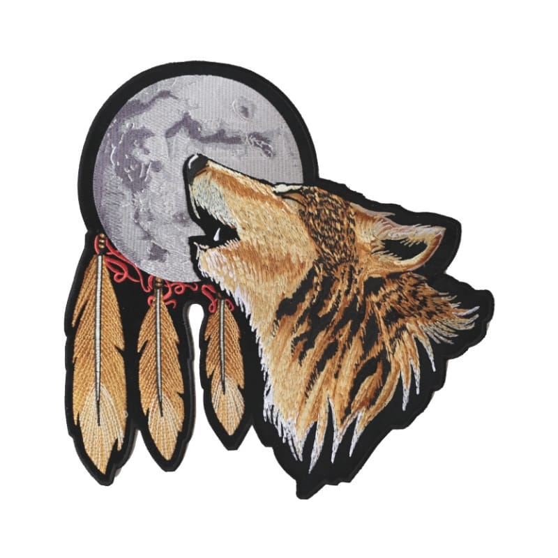Wolf embroidered patch