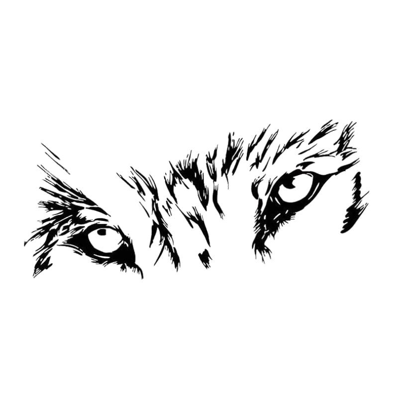 Wolf eyes decal