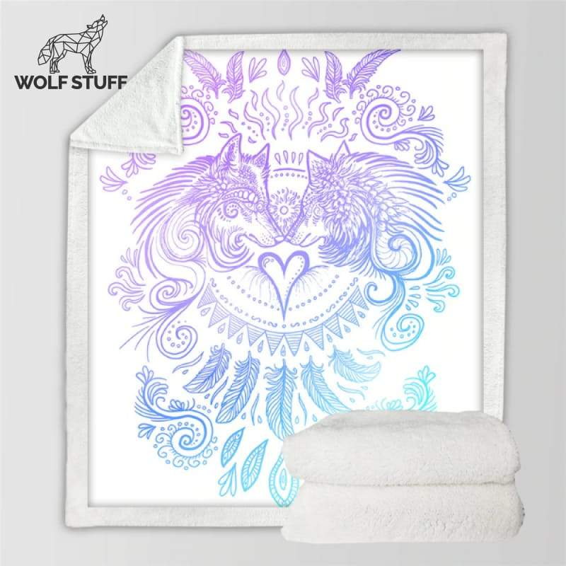 Wolf fleece blanket Uk