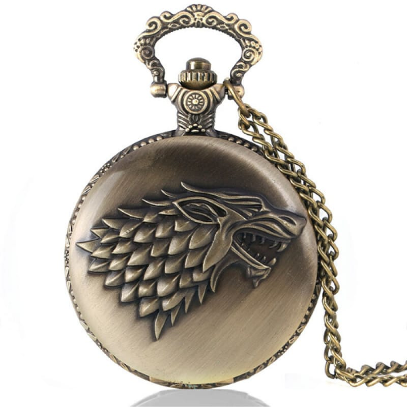 Wolf Game of Thrones Pocket Watch