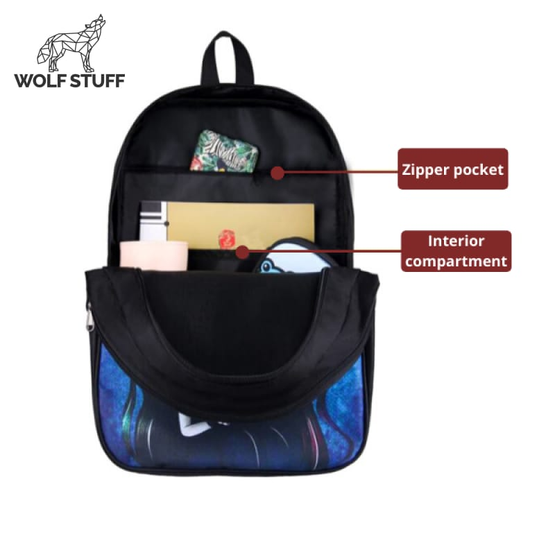 Wolf Head Backpack