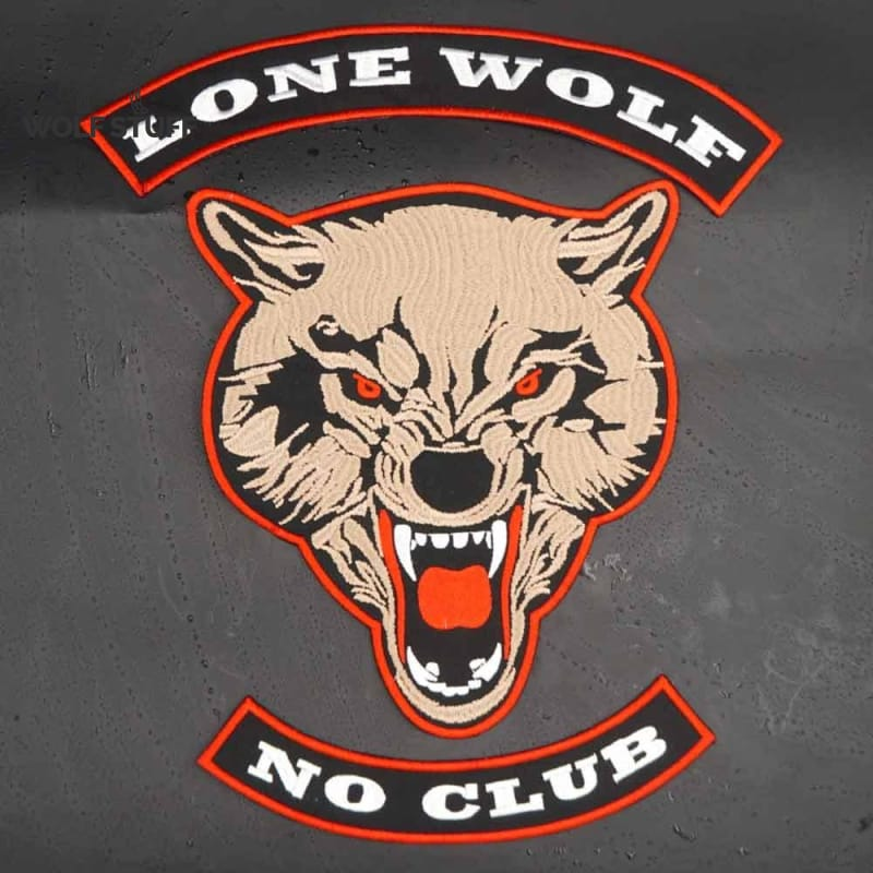 Wolf patches for jackets