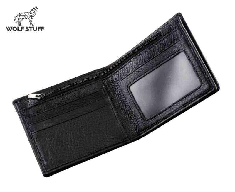 Wolf leather wallet