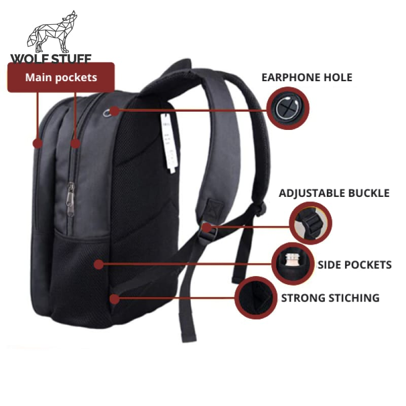 Wolf Logo Backpack