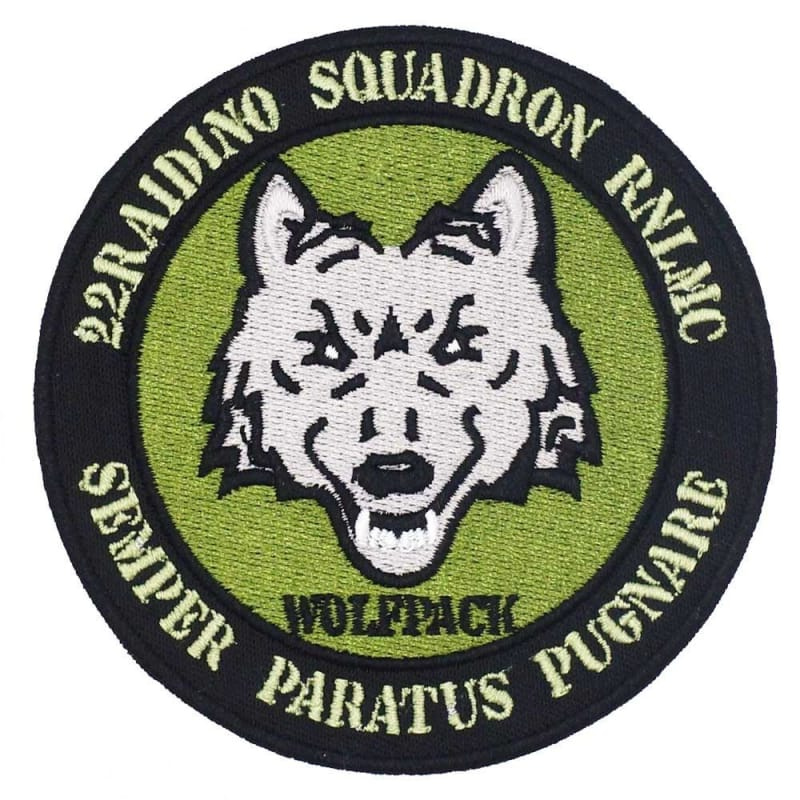 Wolf military patch