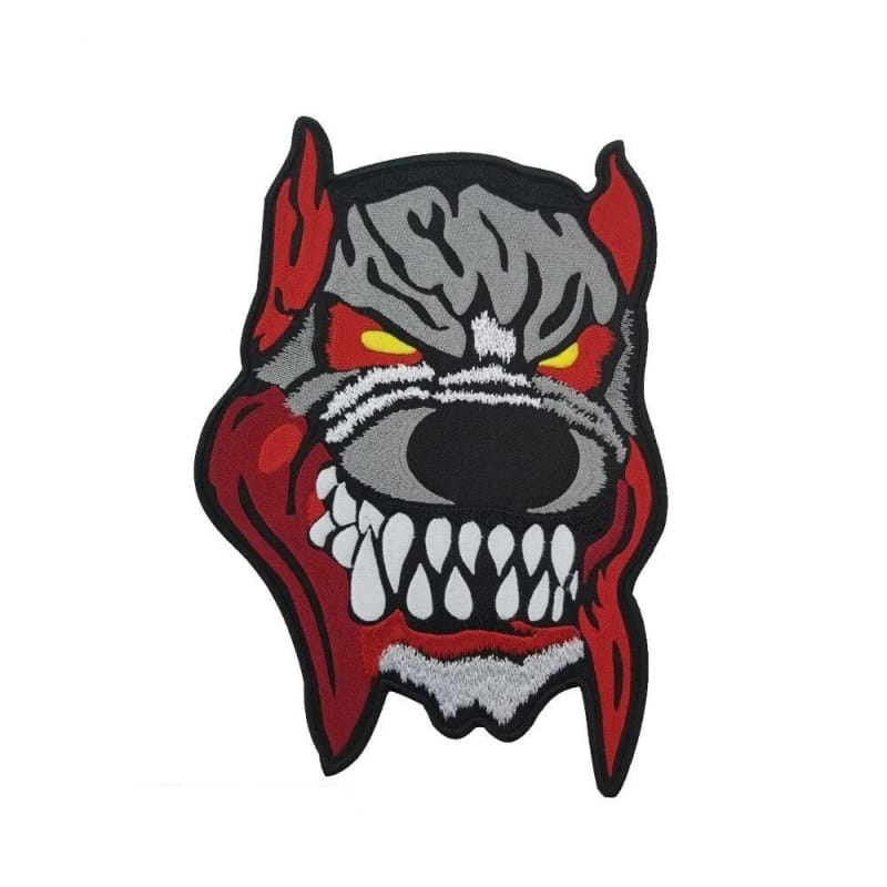 Wolf motorcycle patch