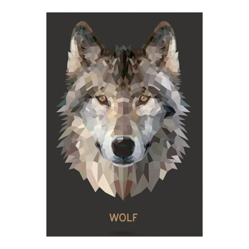 Wolf picture for wall