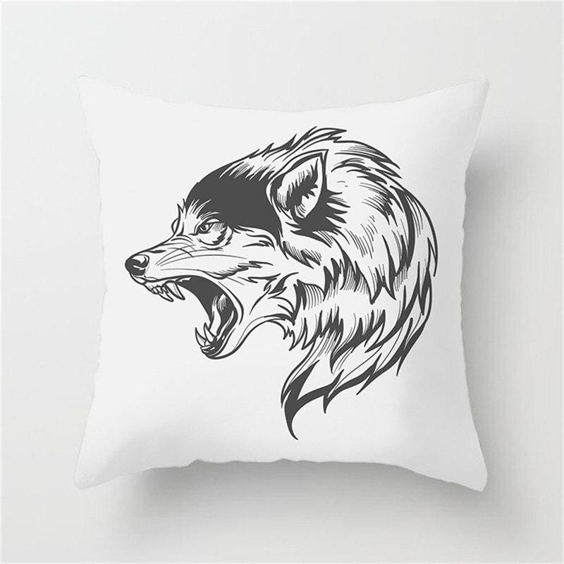 Wolf Shaped Pillow