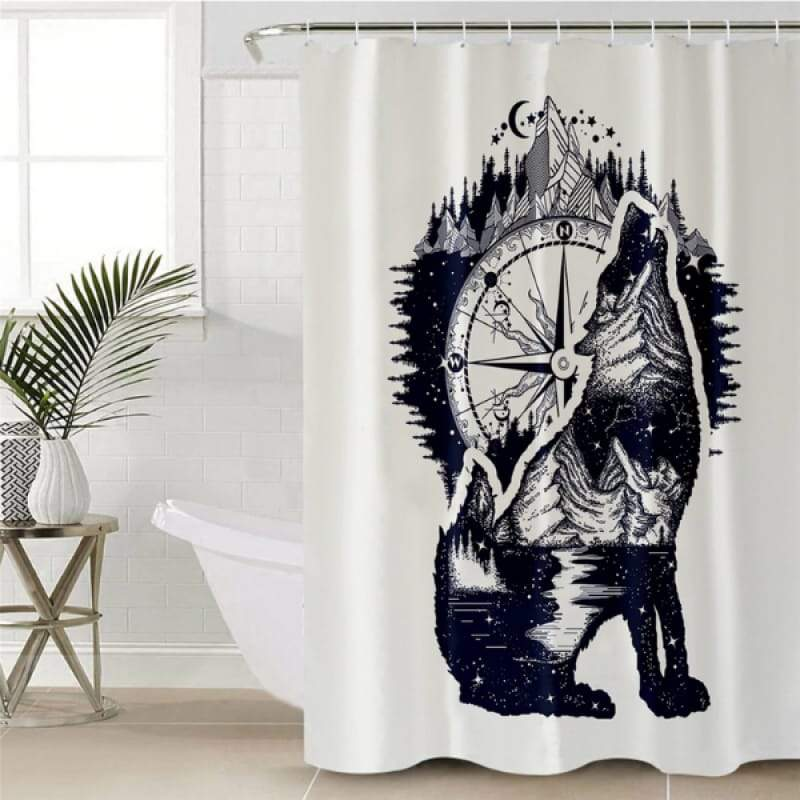 Wolf shower curtain fabric