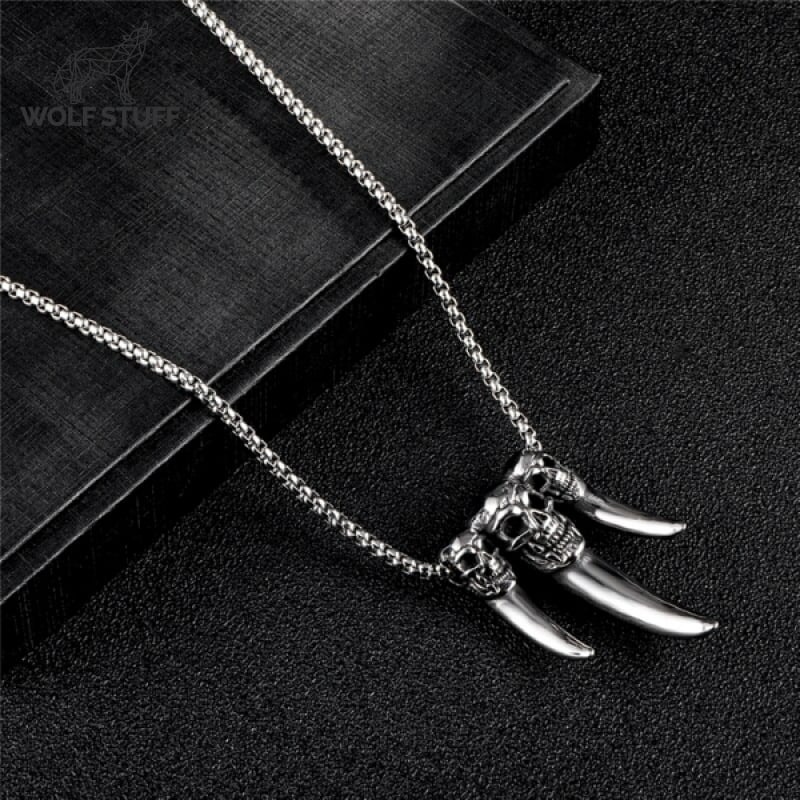 Wolf Skull Necklace