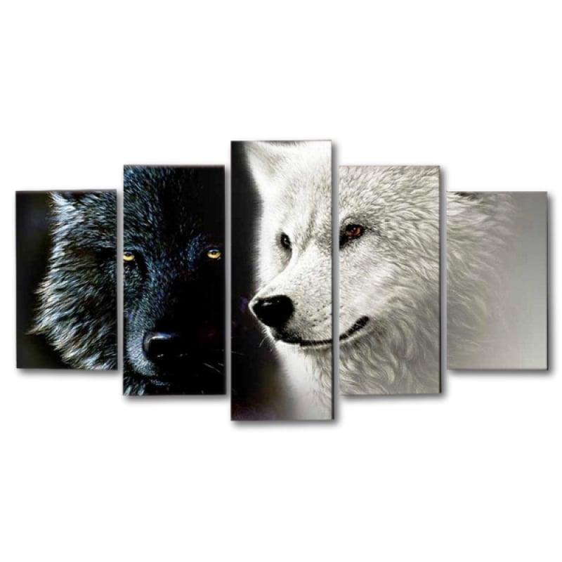 Wolf Split Canvas