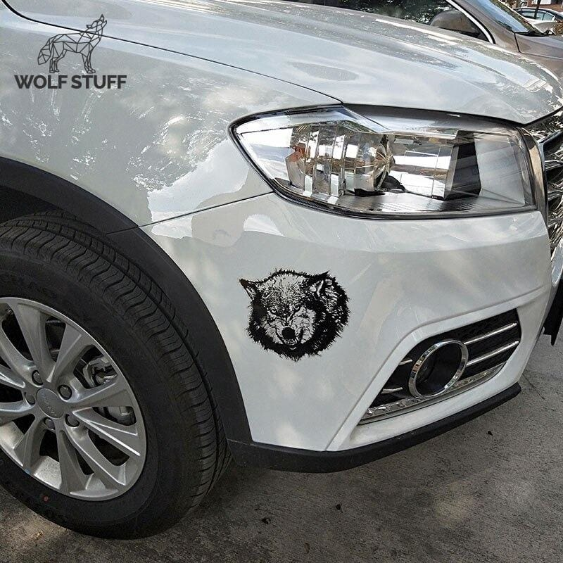 Wolf sticker for car