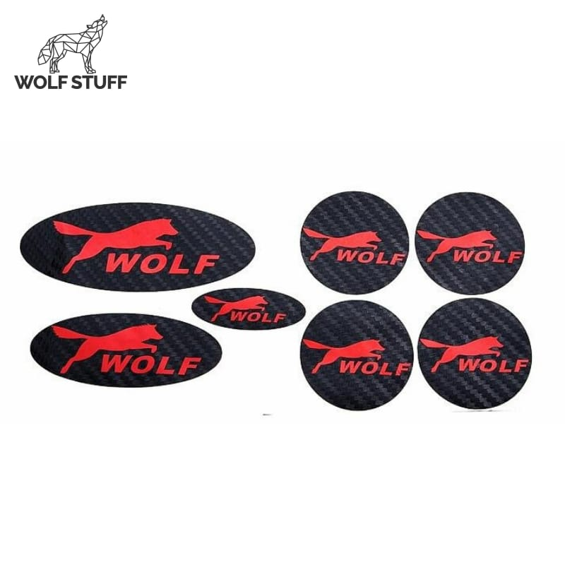 Wolf sticker logo