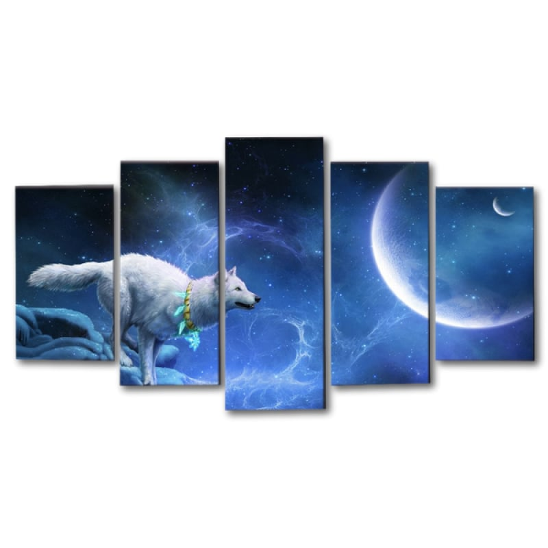 Wolf wall decor art