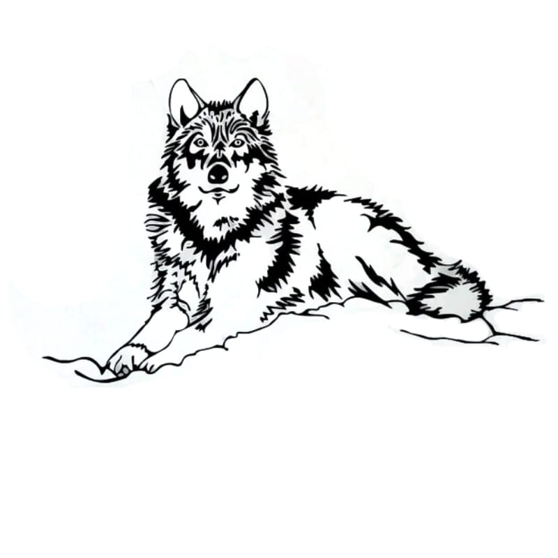 Wolf wall sticker Uk