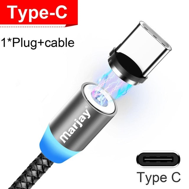 Magnetic USB Cable For iPhone Samsung Android