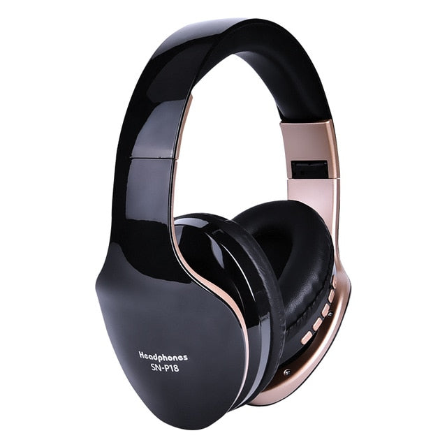 wireless foldable stereo headphone