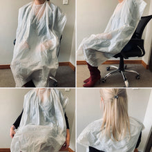 Load image into Gallery viewer, Disposable Salon Capes - 100 Capes per pack