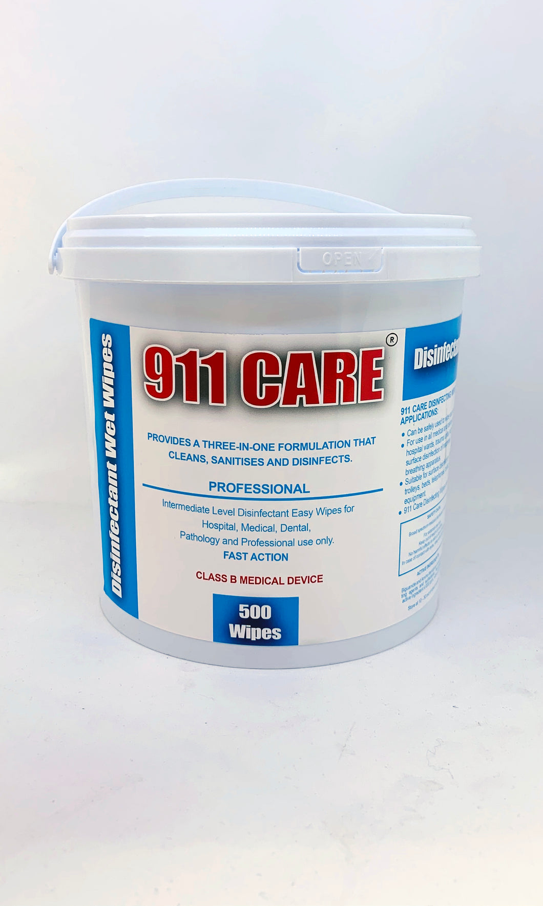 911 Care Disinfectant Wet Wipes 500's