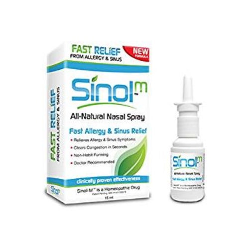 Sinol-M Nasal Spray - Sinus and Allergy Relief - Nucare Health Shop