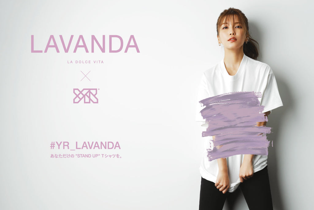 "ーLAVANDAー SPECIAL LIMITED ITEMS ""STAND UP Tシャツ"" Order Start"
