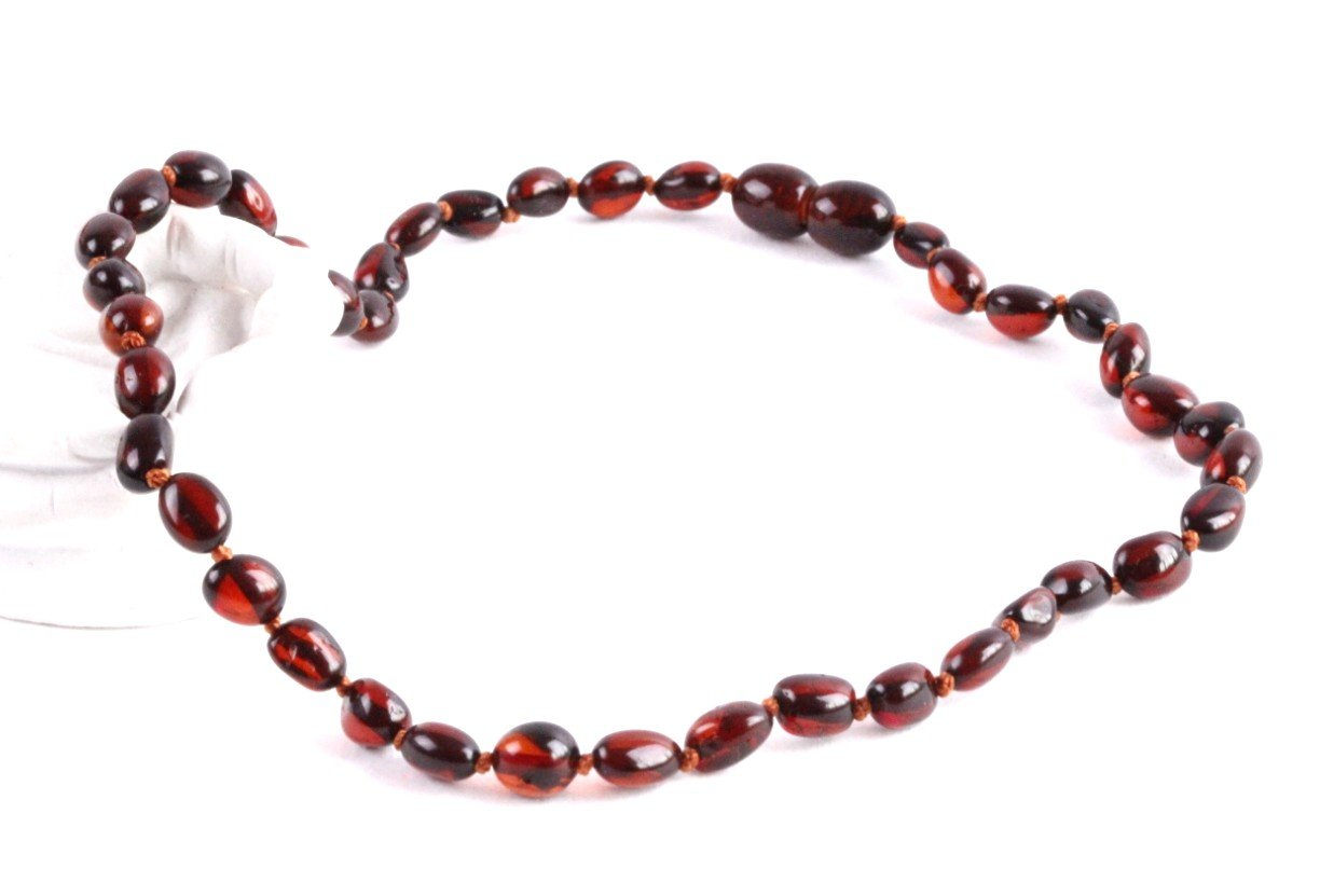Dark Honey Bean Amber Necklace - Amber SOS