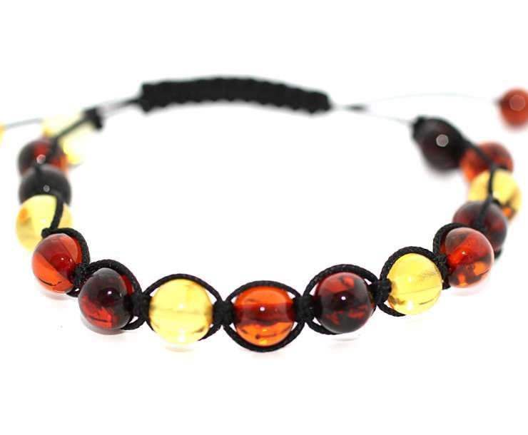 Mixed Adjustable Cord Bracelet - Amber SOS