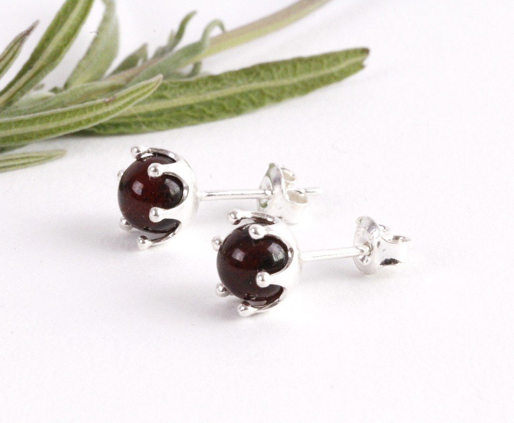 Cherry Stud Amber Earrings - Amber SOS