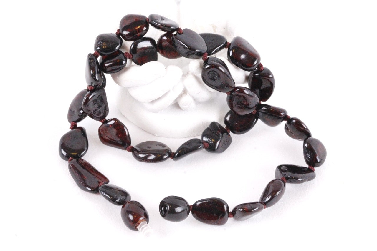 Flat Cherry Bead Necklace