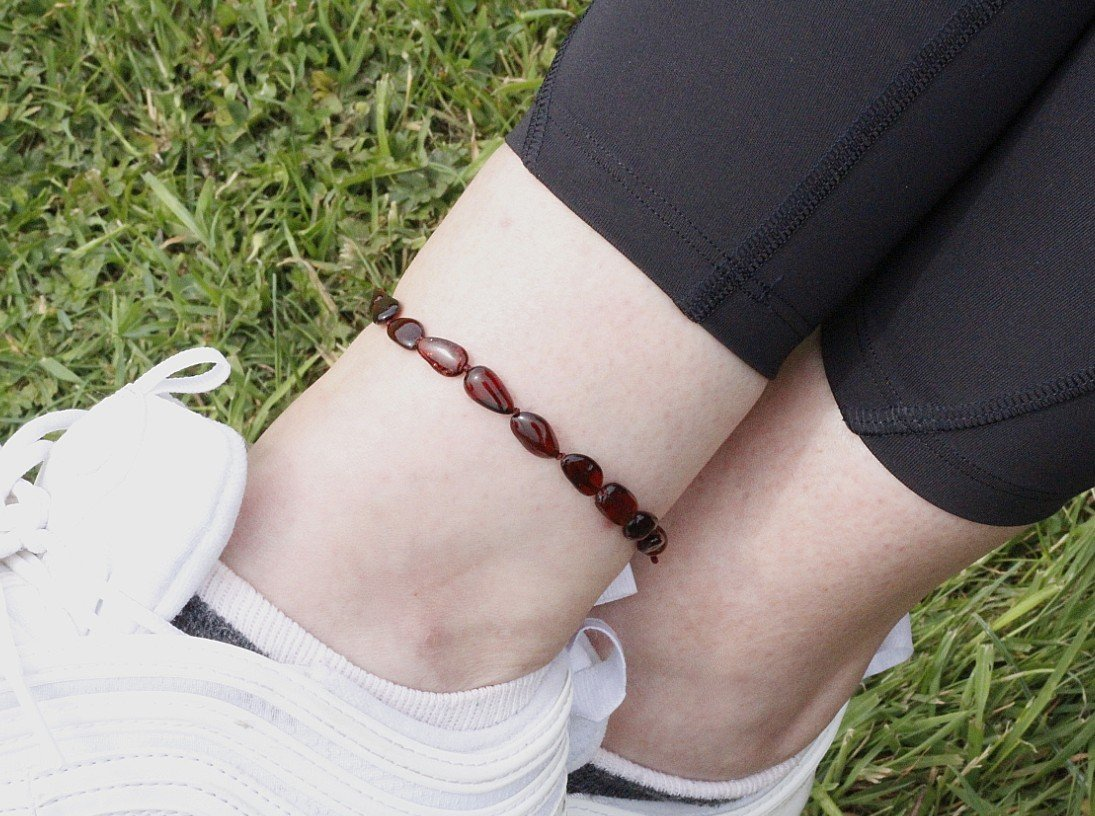 Dark Honey Adult Anklet - Amber SOS