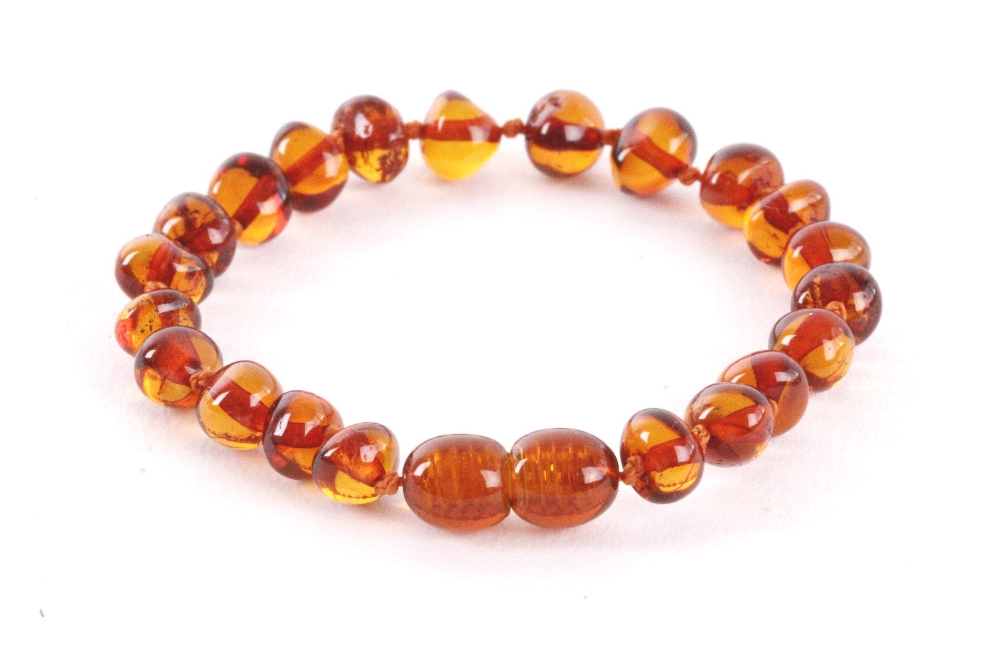 Dark Honey Round Amber Anklet for Children - Amber SOS