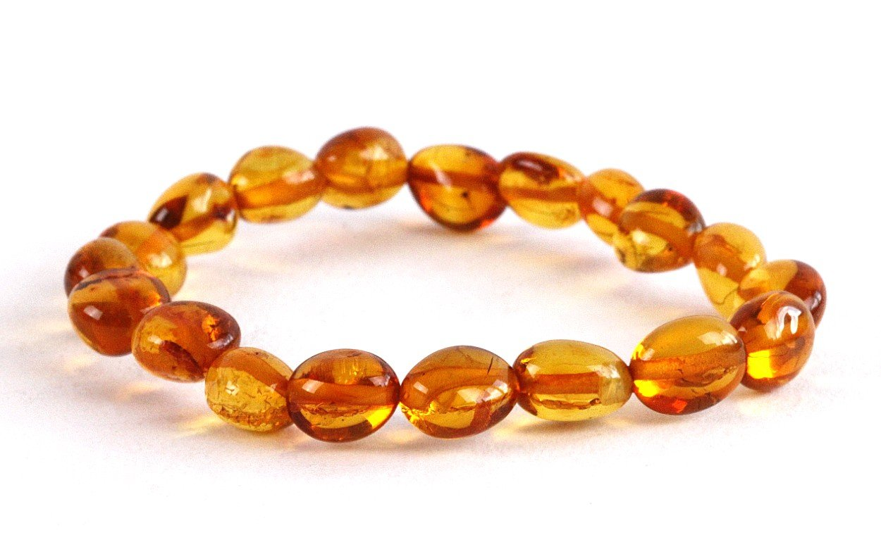 Honey Bean Amber Adult Bracelet - Amber SOS