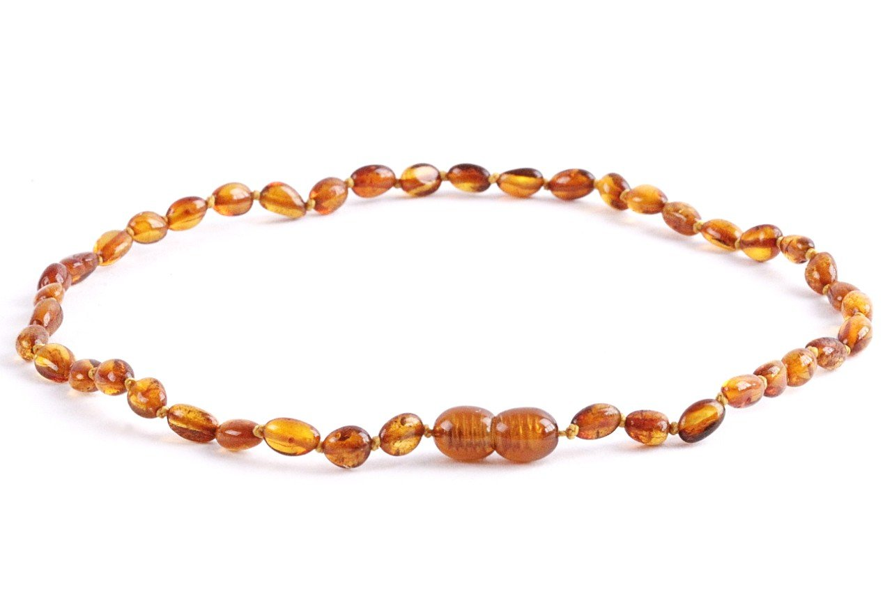 Honey Bean Amber Necklace for Children - Amber SOS