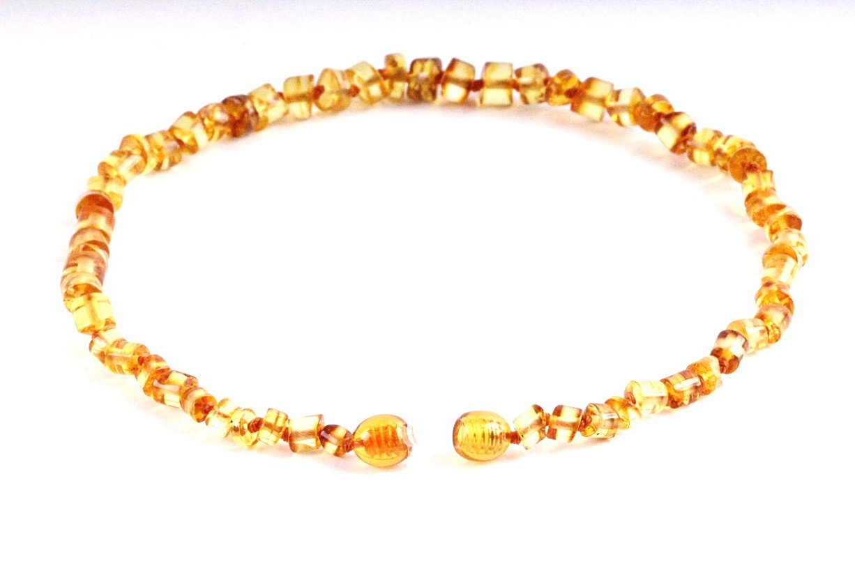 Honey Cylinder Amber Necklace - Amber SOS